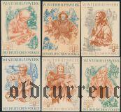 Германия, winterhilfswerk (зимняя помощь) 1938-39 гг., 6 шт.