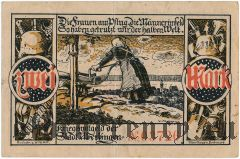 Юберлинген (Überlingen), 2 марки 1918 года