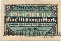 Дюссельдорф (Düsseldorf) Phoenix, 5.000.000 марок 1923 года. Вар. 2