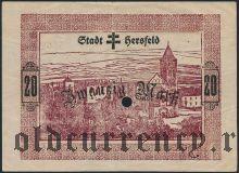 Херсфельд (Hersfeld), 20 марок 1918 года