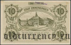 Эммендинген (Emmendingen), 10 марок 1918 года