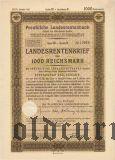 Preussische Laandesrentenbank, Берлин, 1000 рейхсмарок 1940 года