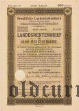 Preussische Laandesrentenbank, Берлин, 1000 рейхсмарок 1937 года