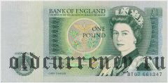 Великобритания, 1 фунт (1978-84) года