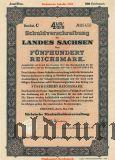 Schuldverschreibung des Landes Sachsen, Dresden, 500 reichsmark 1938