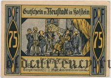 Нойштадт-ин-Хольштайн (Neustadt i. Holstein), 75 пфеннингов 1921 года. Вар. 1