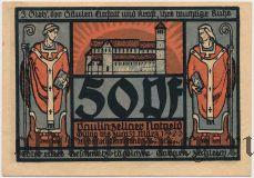 Паулинцелла (Paulinzella), 50 пфеннингов 1922 года. Вар. 2