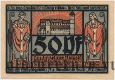 Паулинцелла (Paulinzella), 50 пфеннингов 1922 года. Вар. 3