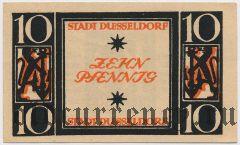 Дюссельдорф (Düsseldorf), 10 пфеннингов 1920 года. Серия: III