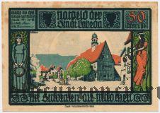 Лобеда (Lobeda), 50 пфеннингов 1921 года. Вар. 1