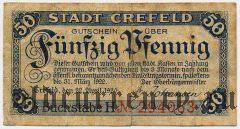 Крефельд (Crefeld), 50 пфеннингов 1920 года. Вар. 2