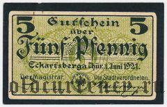 Эккартсберга (Eckartsberga), 5 пфеннингов 1921 года