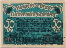 Лихтенштайн-Калленберг (Lichtenstein-Callnberg), 50 пфеннингов 1921 года. Вар. 4