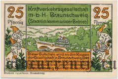 Брауншвейг (Braunschweig), 25 пфеннингов 1921 года