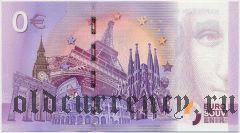 Франция, сувенирная банкнота, 0 евро 2016 года.