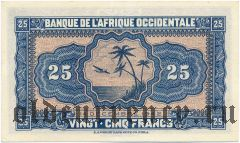 Французская Западная Африка, 25 франков 1942 года