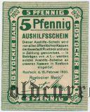 Росток (Rostock), 5 пфеннингов 1920 года