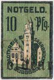 Саарбрюккен (Saarbrücken), 10 пфеннингов 1919 года. Вар 2.