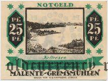 Маленте-Гремсмюлен (Malente-Gremsmühlen), 25 пфеннингов 1920 года