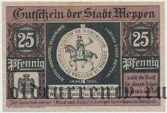 Меппен (Meppen), 25 пфеннингов 1921 года