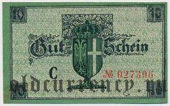 Нойс (Neuss), 10 пфеннингов 1919 года