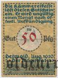 Детмольд (Detmold), 50 пфеннингов 1920 года. Вар. 2