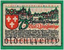 Бад-Липшпринге (Bad Lippspringe), 75 пфеннингов 1921 года