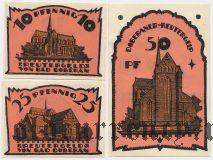 Доберан (Doberan), 3 нотгельда 1921 года