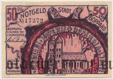 Боппард (Boppard), 50 пфеннингов 30.03.1921 года