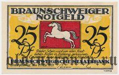 Брауншвейг (Braunschweig), 25 пфеннингов 1921 года. Вар. 4