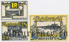 Брунсхауптен (Brunshaupten), 3 нотгельда 1922 года