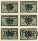 Арнштадт (Arnstadt), 25 пфеннингов, 6 нотгельдов 1921 года
