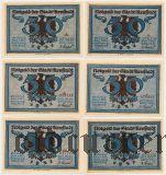 Арнштадт (Arnstadt), 50 пфеннингов, 6 нотгельдов 1921 года