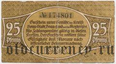 Бонн (Bonn), 25 пфеннингов 1920 года