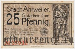 Арвайлер (Ahrweiler), 25 пфеннингов 1921 года