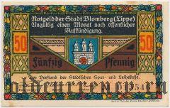 Бломберг (Blomberg), 50 пфеннингов. Вар. 2
