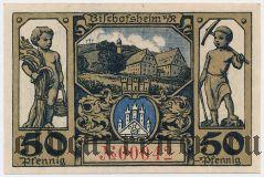Бишофсхайм (Bischofsheim), 50 пфеннингов (1921) года. Вар. 2