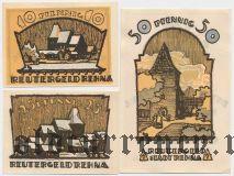 Рена (Rehna), 3 нотгельда 1922 года