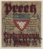 Прец (Preetz), 25 пфеннингов 1921 года