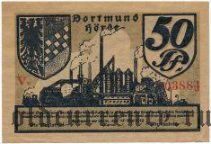 Дортмунд Хёрде (Dortmund und Hörde), 50 пфеннингов 1919 года