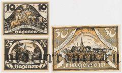Хагенов (Hagenow), 3 нотгельда 1922 года