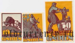 Гнойен (Gnoien), 3 нотгельда 1922 года