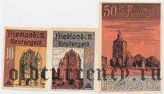 Фридланд (Friedland), 3 нотгельда 1922 года