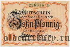 Делич (Delitzsch), 10 пфеннингов 1921 года