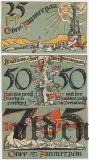 Обераммергау (Oberammergau), 3 нотгельда 1921 года. Вар. 1
