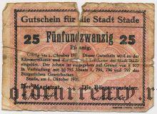 Штаде (Stade), 25 пфеннингов 1918 года. Вар. 2