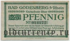 Бад-Годесберг (Bad Godesberg), 25 пфеннингов 1920 года