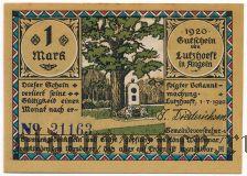 Луцхёфт (Lutzhöft), 1 марка 1920 года