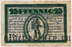 Шпайхер (Speicher), 25 пфеннингов 1920 года. Вар. 2