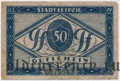 Лейпциг (Leipzig), 50 пфеннингов 1920 года